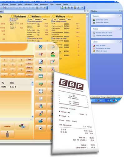 logiciel de caisse EBP Point de vente