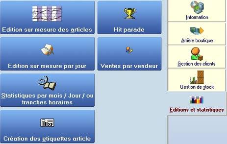logiciel de caisse Front Shop: le menu statistiques