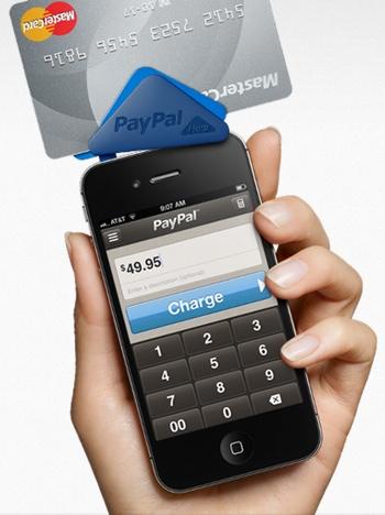 PayPal Here avec iPhone et lecteur de carte de crédit