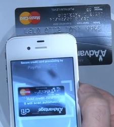 PayPal Here et scan de CB