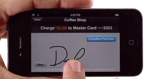 Signature pour valider le paiement effectué par CB via PayPal Here