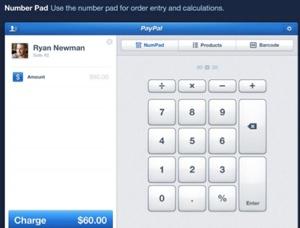 Entrée manuelle d'un montant sur PayPal Here iPad