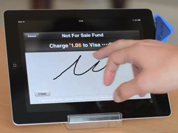Signature pour confirmer le paiement CB sur PayPal Here