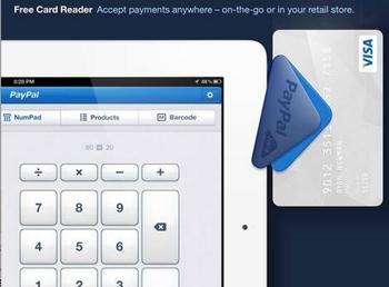 Lecture de carte bancaire VISA par piste magnétique (PayPal Here)