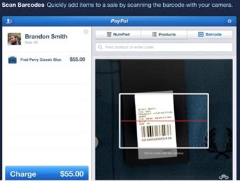 Lecture code-barre à partir de PayPal Here sur iPad