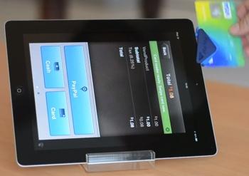 PayPal Here utilisé comme logiciel de caisse sur iPad
