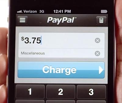 PayPal Here: saisie d'un total sans détail