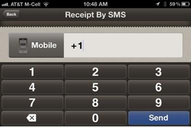 PayPal Here: Envoi du ticket de caisse par SMS