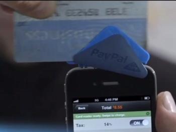 Lecture de carte de crédit avec PayPal Here