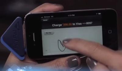 Signature pour valider le paiement CB PayPal Here