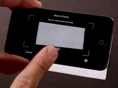 PayPal Here: Scan du verso du chèque