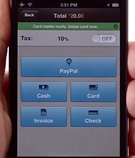 Les types de paiement proposés par PayPal Here