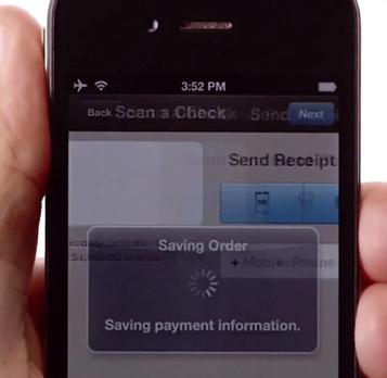 PayPal Here sur iPhone: transaction sauvegardée