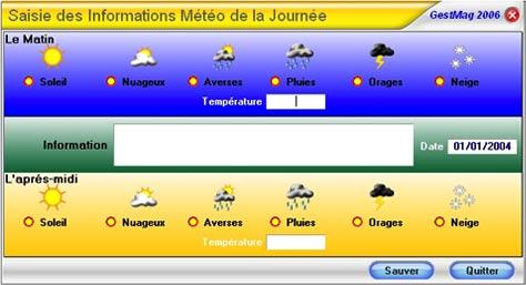 logiciel de caisse gestmag 2006: meteo