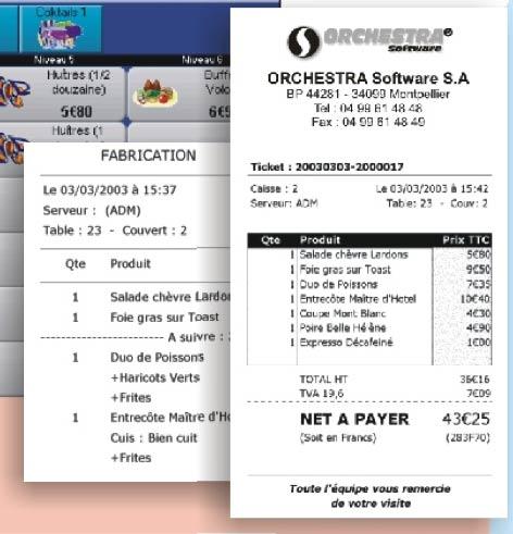 logiciel de caisse orchestra pour restaurant
