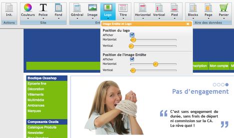 Création d'un site web avec Pointex et Oxatis