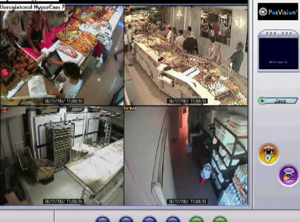 Panneau de connexion caméras de surveillance et Internet de l'enregistreur