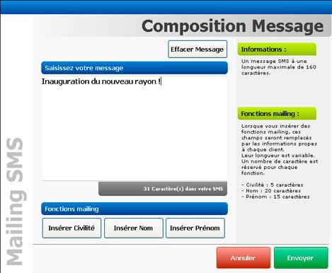 Envoi d'un mailing SMS avec GlobalPos
