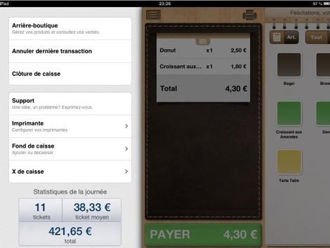 Logiciel de caisse Tactill iPad: annulation de la dernière transaction