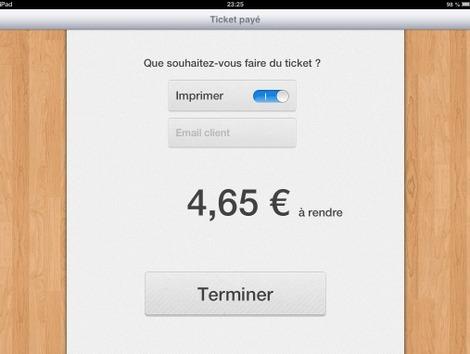Validation de la vente et impression du ticket de caisse