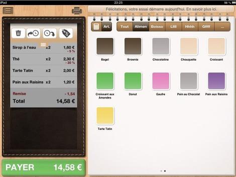 Menu tiroir pour les ventes en attente (Tactill pour iPad)