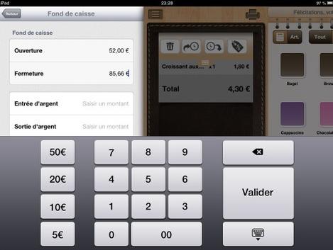 Fond de caisse de Tactill sur iPad