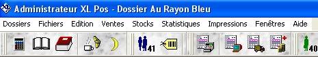 logiciel de caisse xl pos: le menu