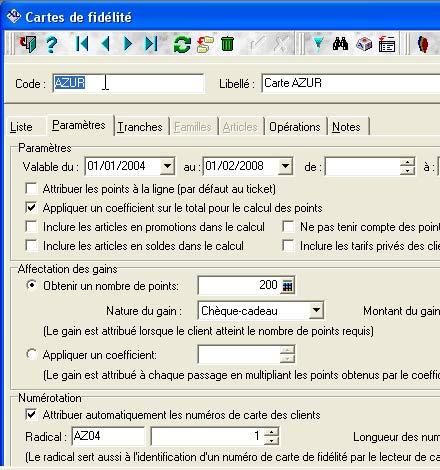 logiciel de caisse xl pos: gestion des cartes de fidélité
